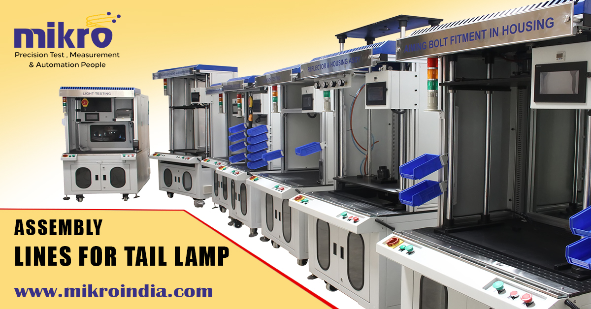 assembly lines for tail lamps