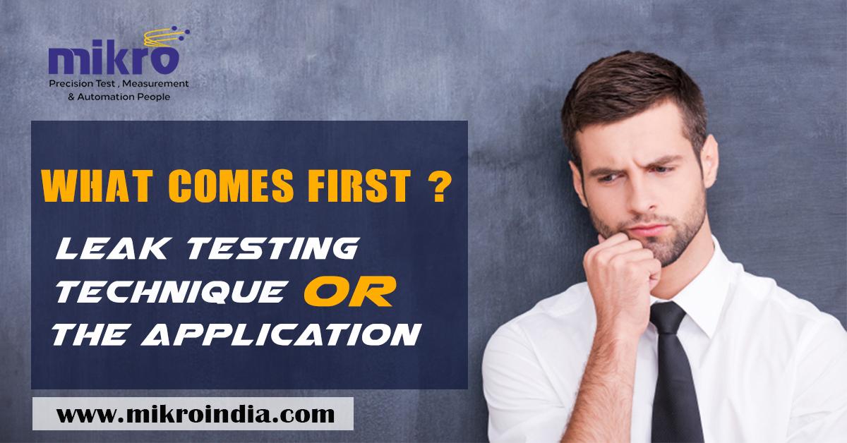 air leak tester or application