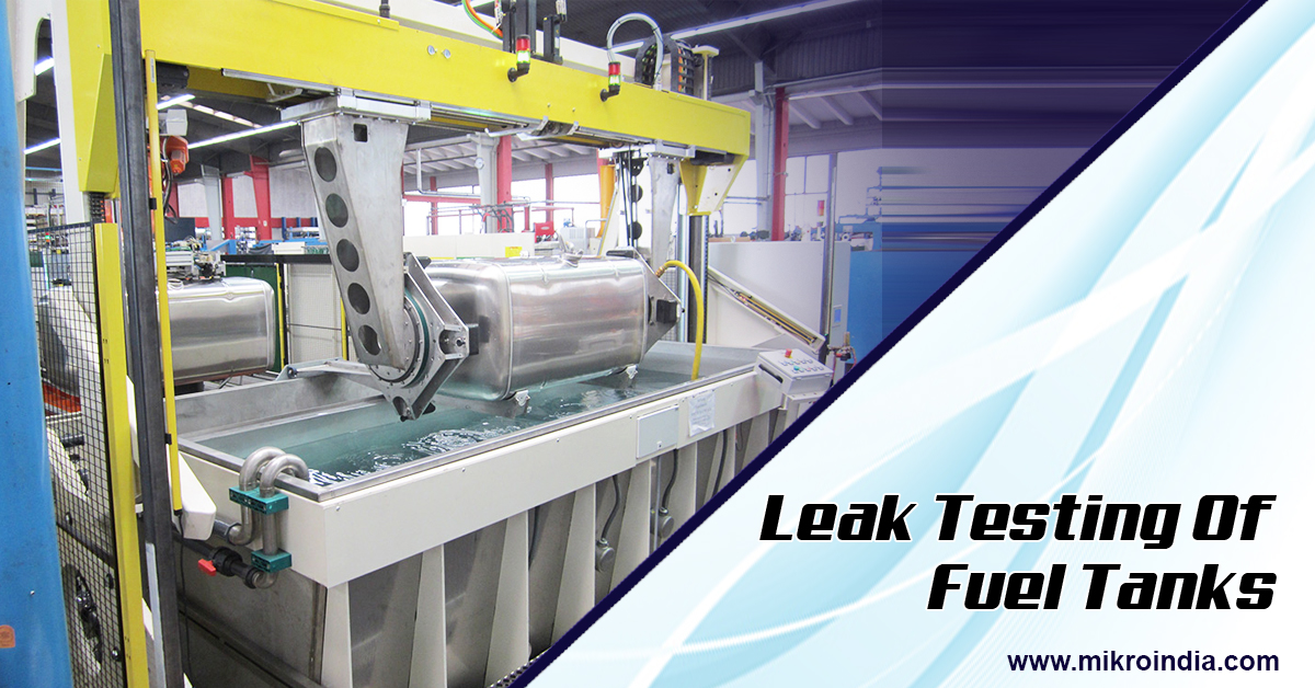 Leak testing of fuel tanks